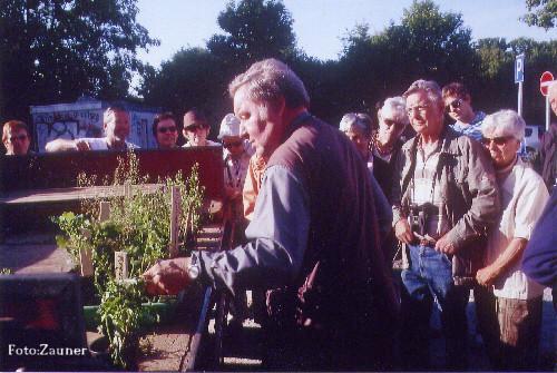 Herr Friedrich zeigt Wildkräuter