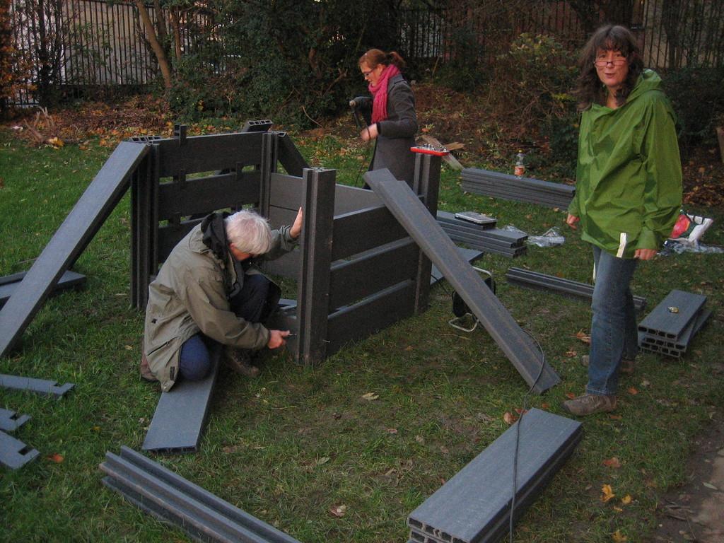 Montage du compost en octobre 2010