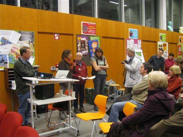 Journée de lanement : Explication du projet aux habitants de Terdelt