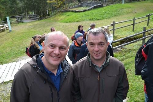 Präsident Wimmesberger und Finanzchef Koll. Mayrwöger bei der Führung durch das Nickelmuseum