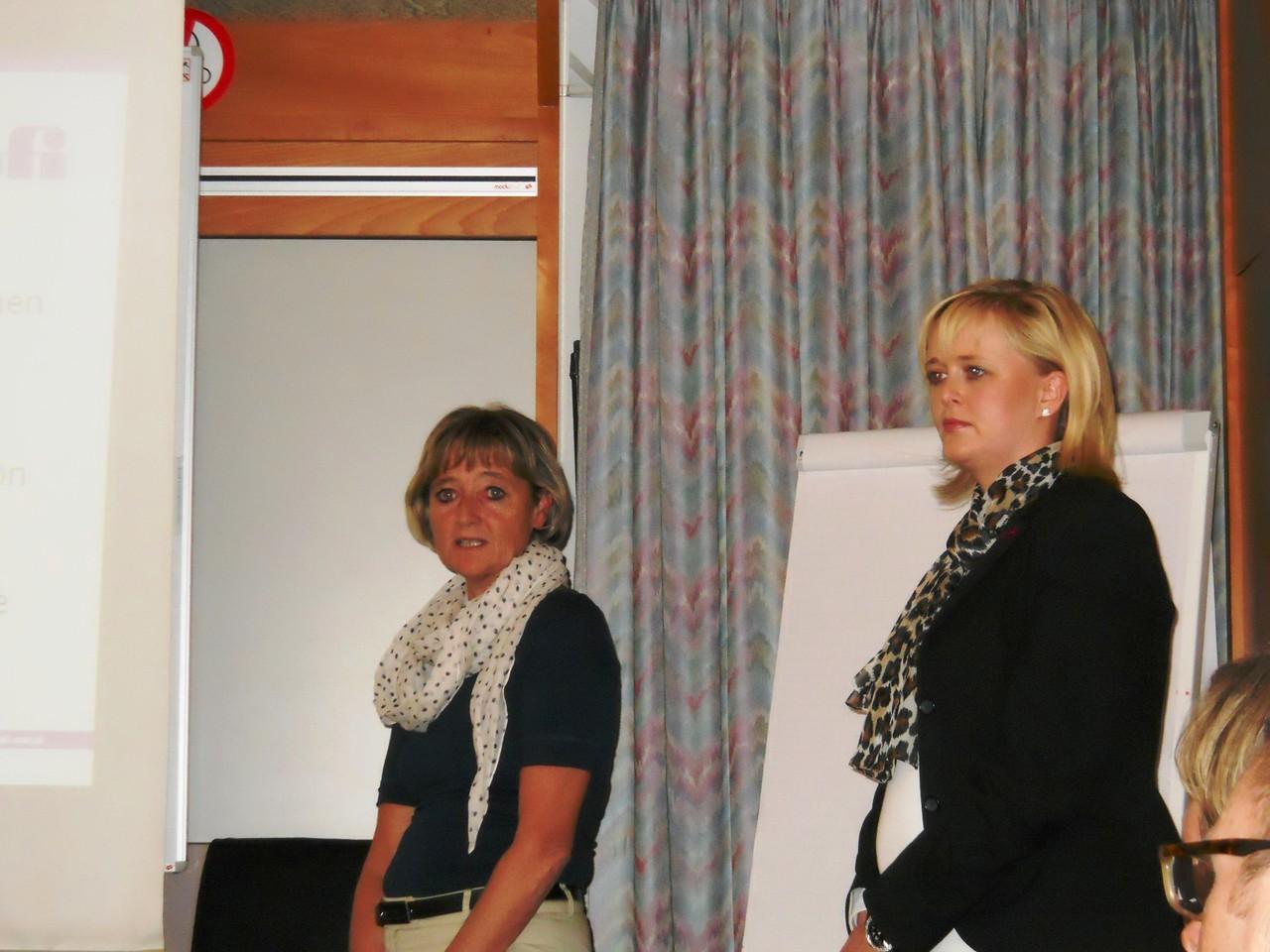 Kooperationspartner/BFI OÖ. - Regionalleiterein Fr. Sabine Steffan und Frau Kerstin Winroither stellen sich vor