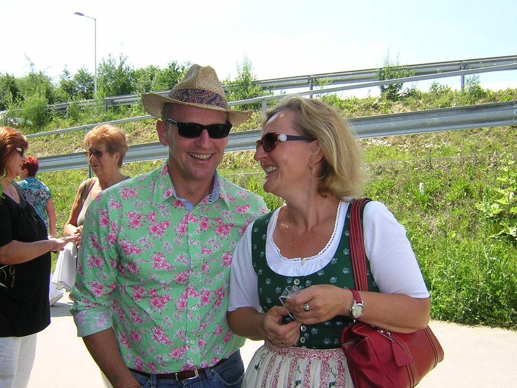 Vereinsobmann 2011 Kollege Döberl und Kollegin Rabner/BH Linz Land