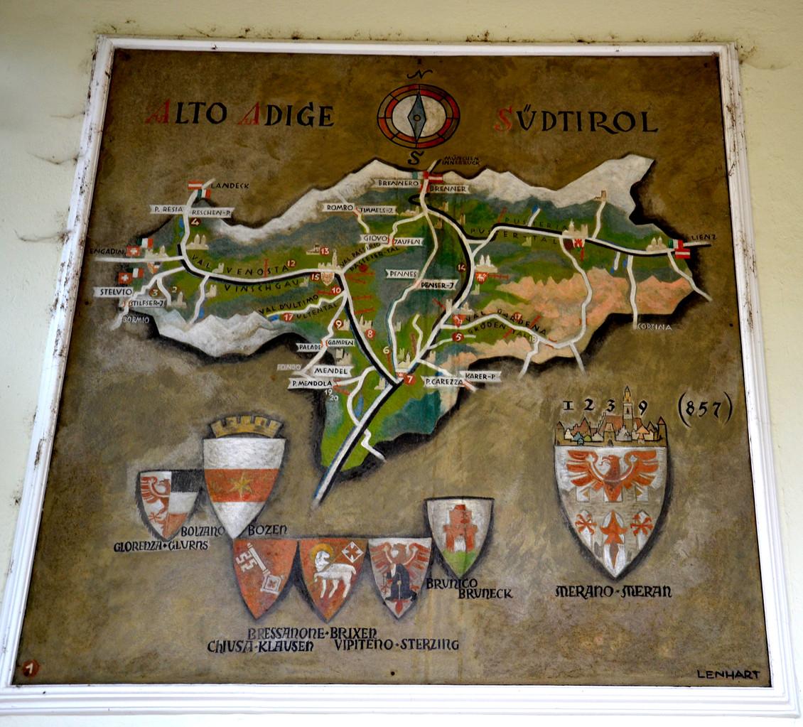 ...alte Karte von Südtirol...
