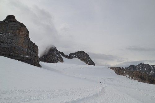 Ein Teil vom Gletscher  - Weg zum hohen Dachstein - 2996m!