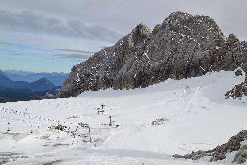 Die ersten Wintersportler sind schon unterwegs....
