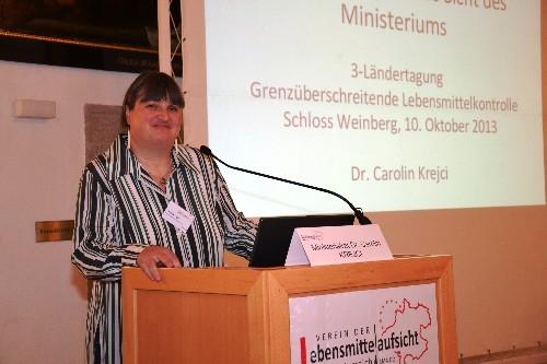 Fr. Dr. Carolin Krejci - Leiterin der Abt. Lebensmittelrecht, - sicherheit und qualität beim Bundesministerium für Gesundheit in Wien