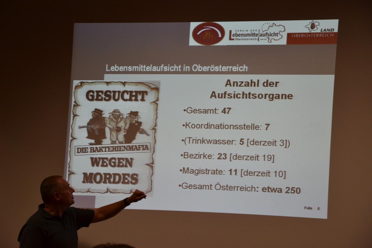 Obmann Wimmesberger stellt die OÖ. Lebensmittelaufsicht vor!