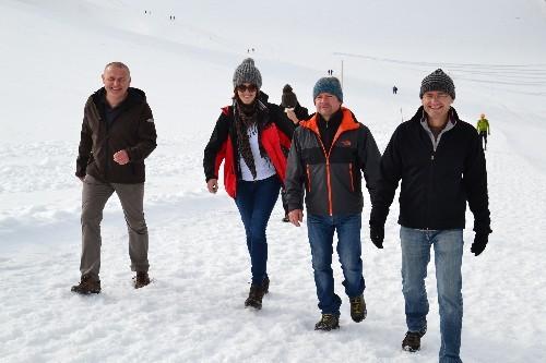 Ein schöner Spaziergang am Gletscher lässt Vorfreude auf den Winter hochkommen!
