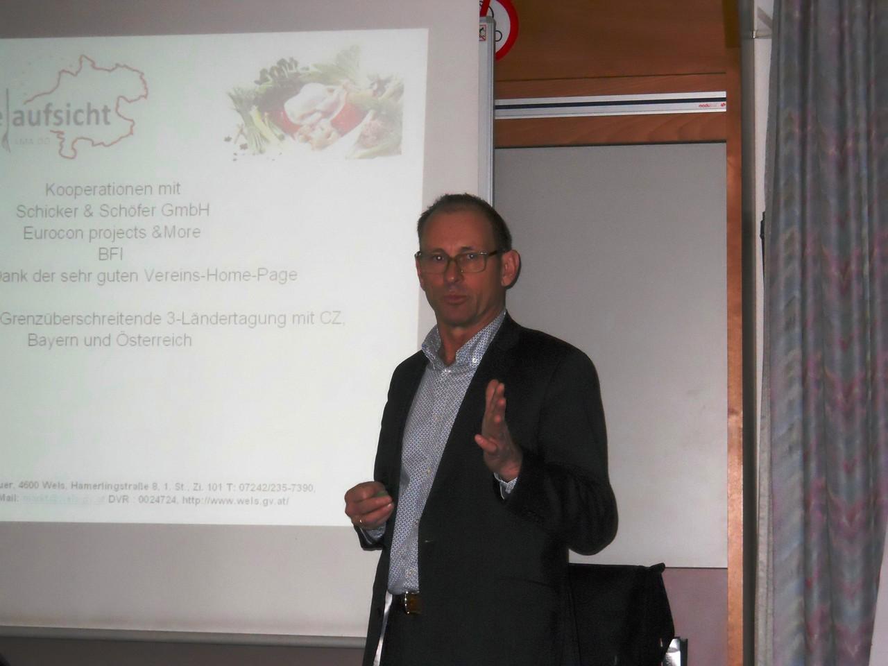 Koll. Brunnbauer/Schriftführer berichtet über die Aktivitäten des Vereins