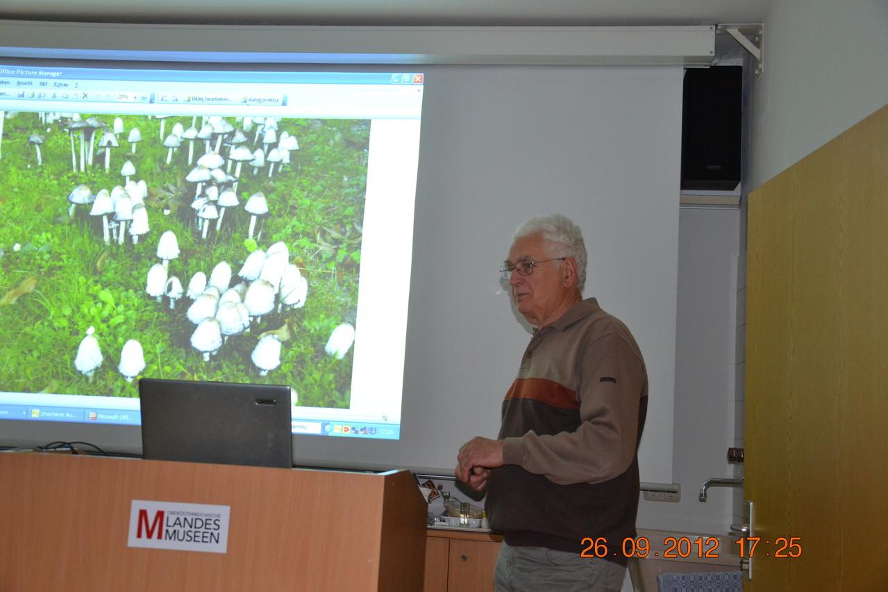 Hr. Kittinger bei seinem ausgezeichneten Vortrag