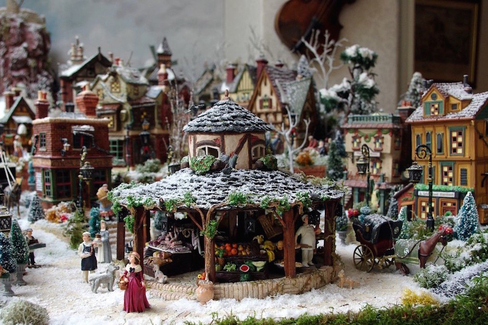 Village de no l 2011 jour petits mondes miniatures de no l - Village de noel miniature ...