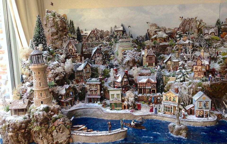 Village de no l 2013 jour petits mondes miniatures de no l - Village de noel miniature ...