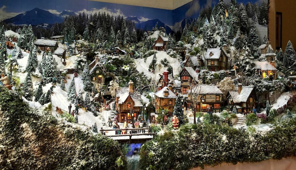 Village de no l 2014 jour petits mondes miniatures de no l - Village de noel miniature ...