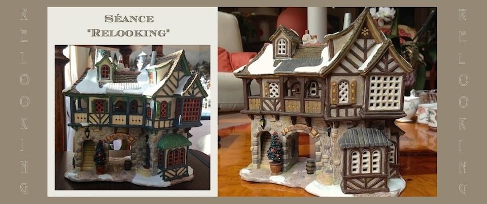 nouveau look pour une maison lemax petits mondes miniatures de no l. Black Bedroom Furniture Sets. Home Design Ideas