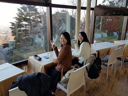 高尾山中腹のカフェ
