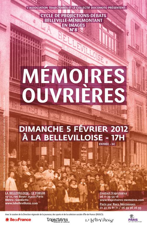 Séance n°8 Mémoires ouvrières