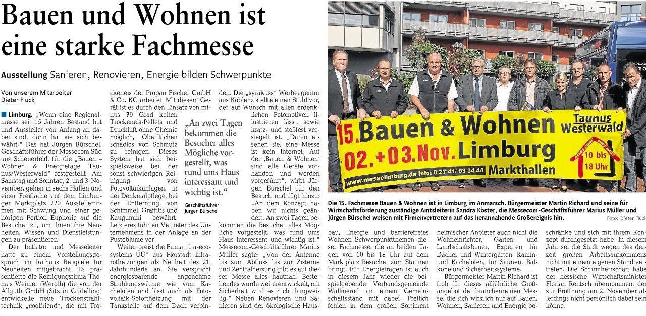 Rhein-Lahn-Zeitung vom 08.10.2013
