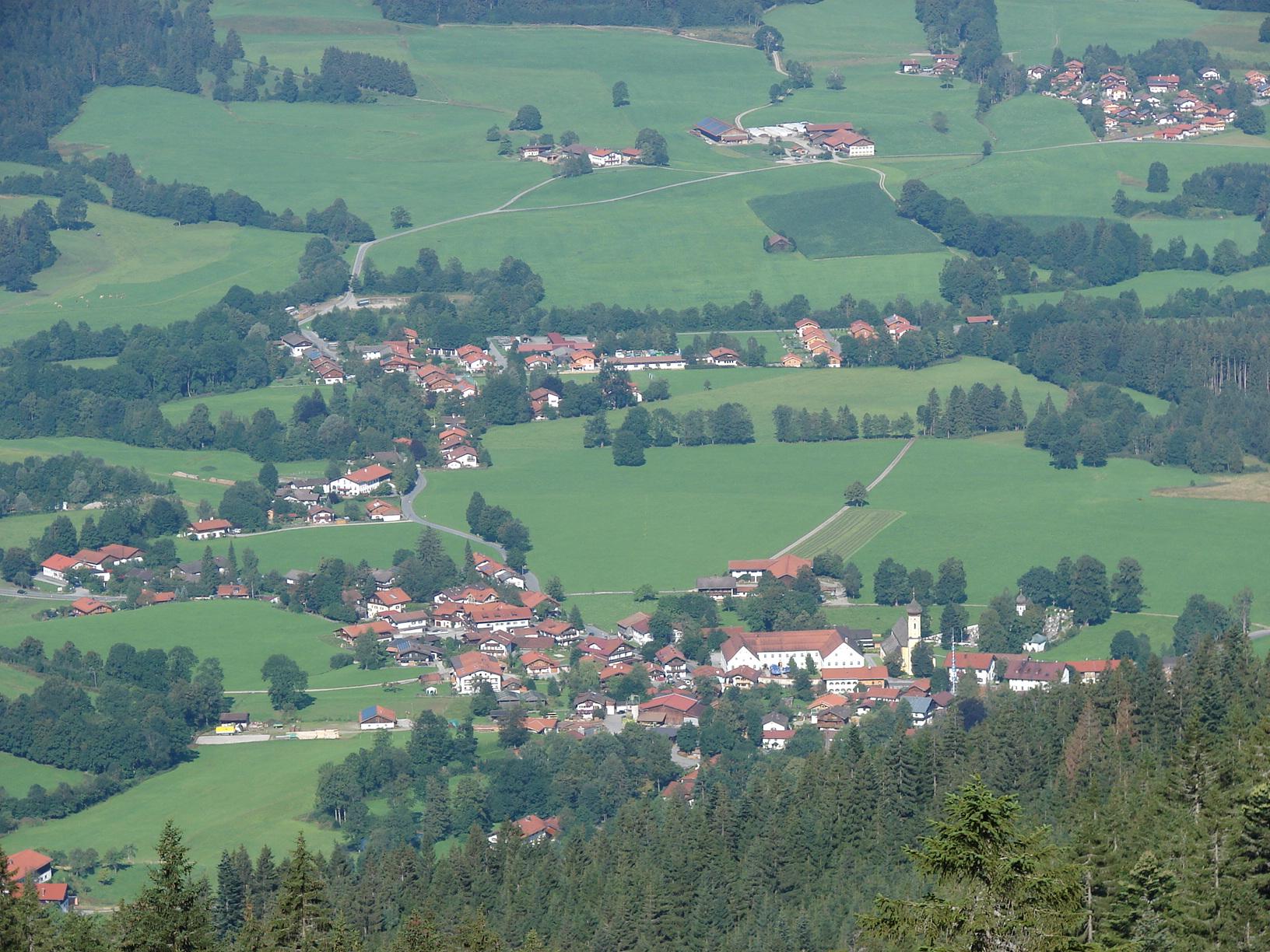 Gruberhof Fischbachau - Fischbachau aus der Vogelperspektive