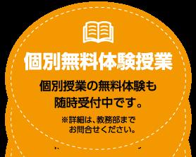 個別体験授業について詳しく知りたい→クリック