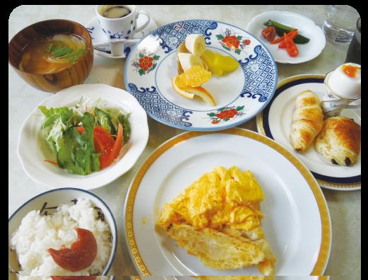 栄養バランスのとれた特別メニュー(朝食例)