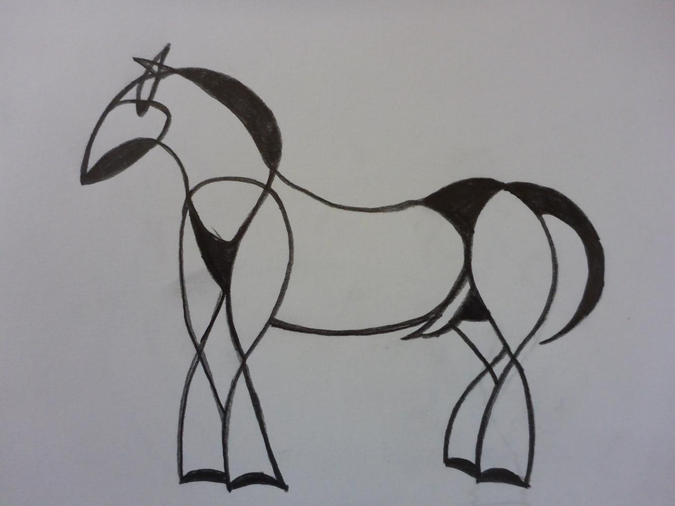 """Stallion VIII"", 2018, pencil on paper, 30 x 21 cm"