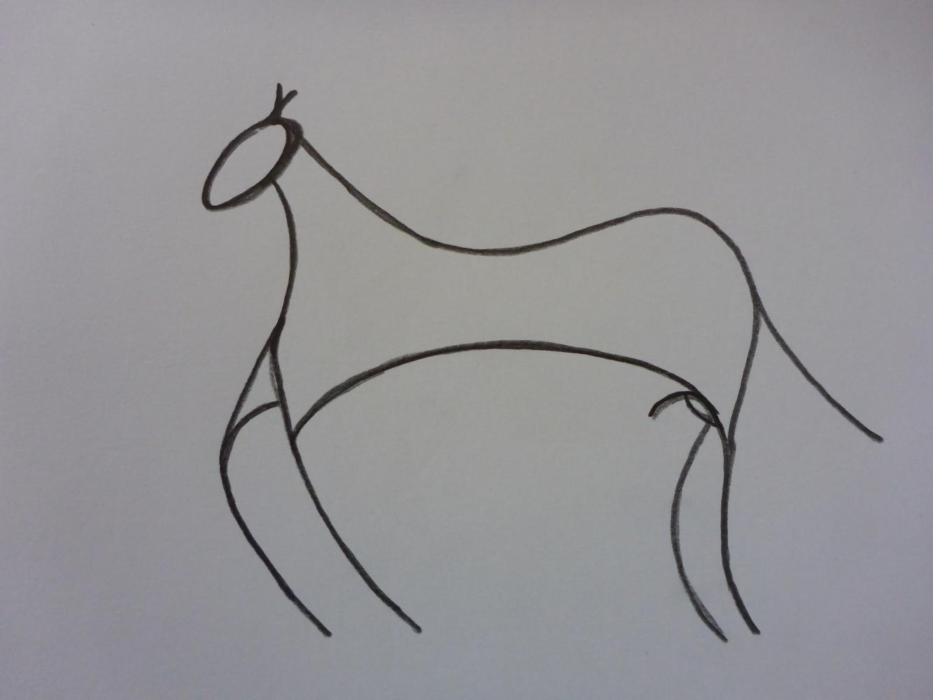 """""""Der Hengst IX"""", 2018, Bleistift auf Papier, 30 x 21 cm"""