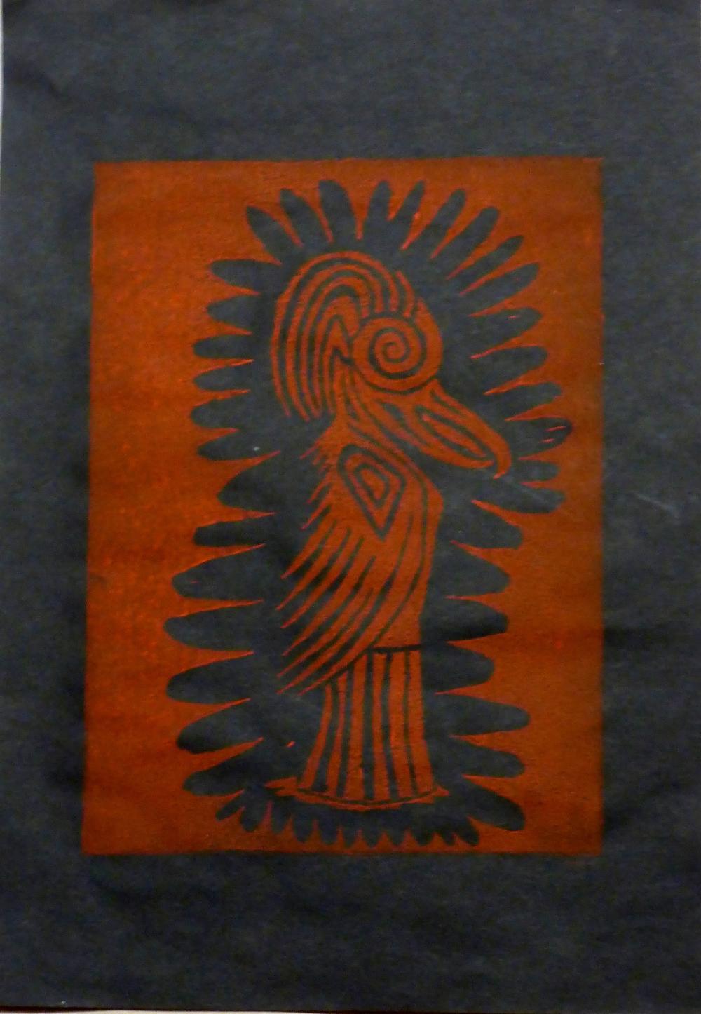 """Eris IV"", 2018, linocut on paper, 21 x 30 cm"