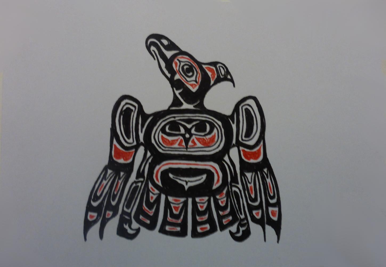 """Donnervogel"", 2018, Kugelschreiber auf Pappe, 15 x 11 cm"