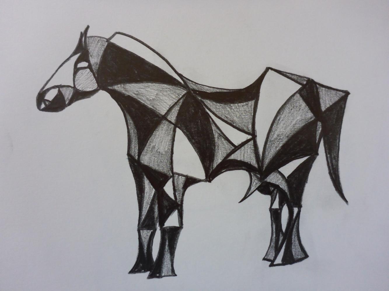 """Stallion VII"", 2018, pencil on paper, 30 x 21 cm"