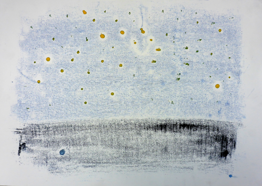 untitled, 2018, monotype on paper, 60 x 42 cm