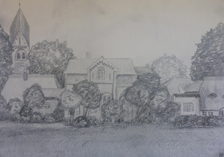 """Wieck"", 2018, pencil on paper, 42 x 30 cm"