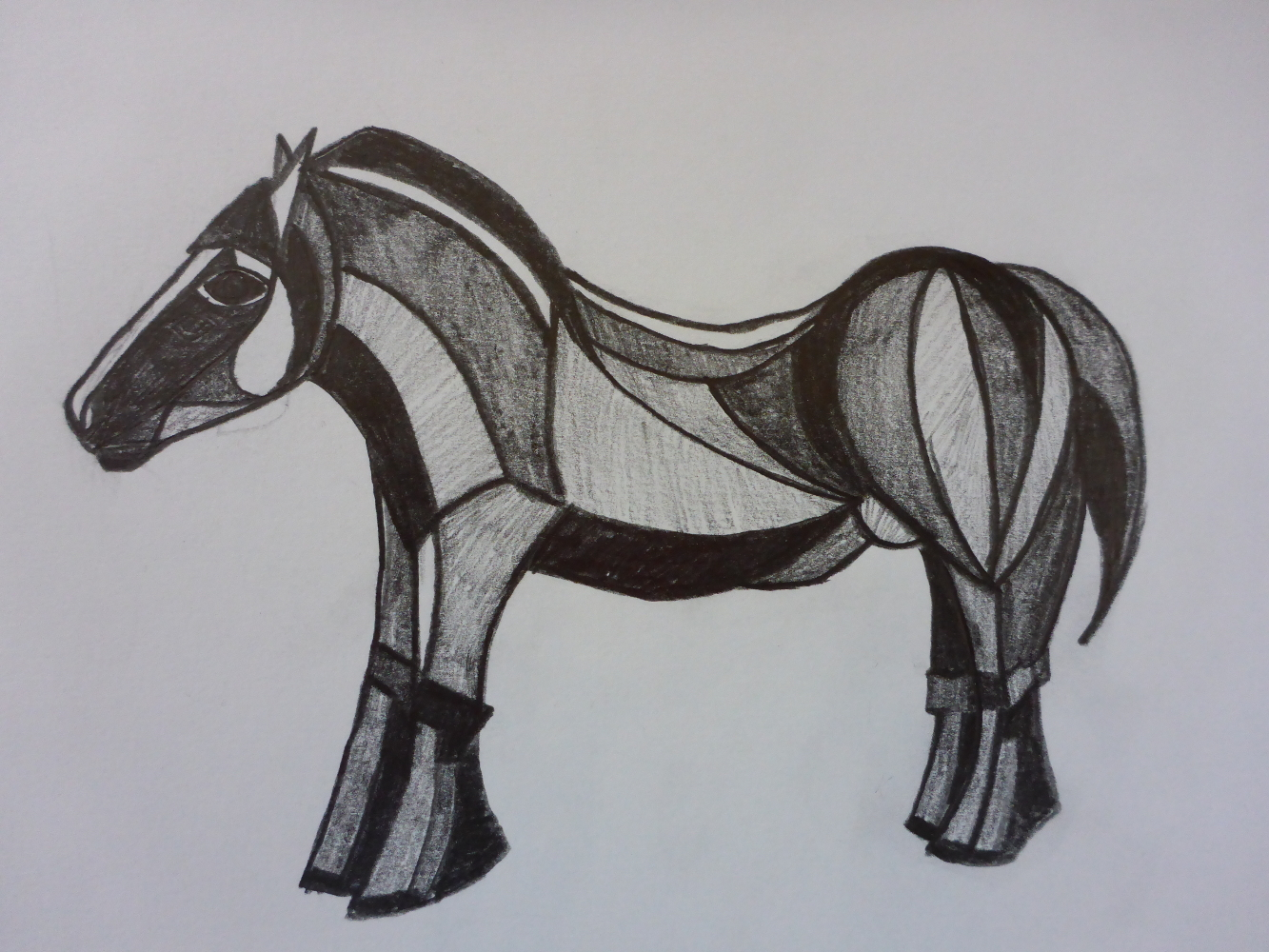 """Stallion VI"", 2018, pencil on paper, 30 x 21 cm"