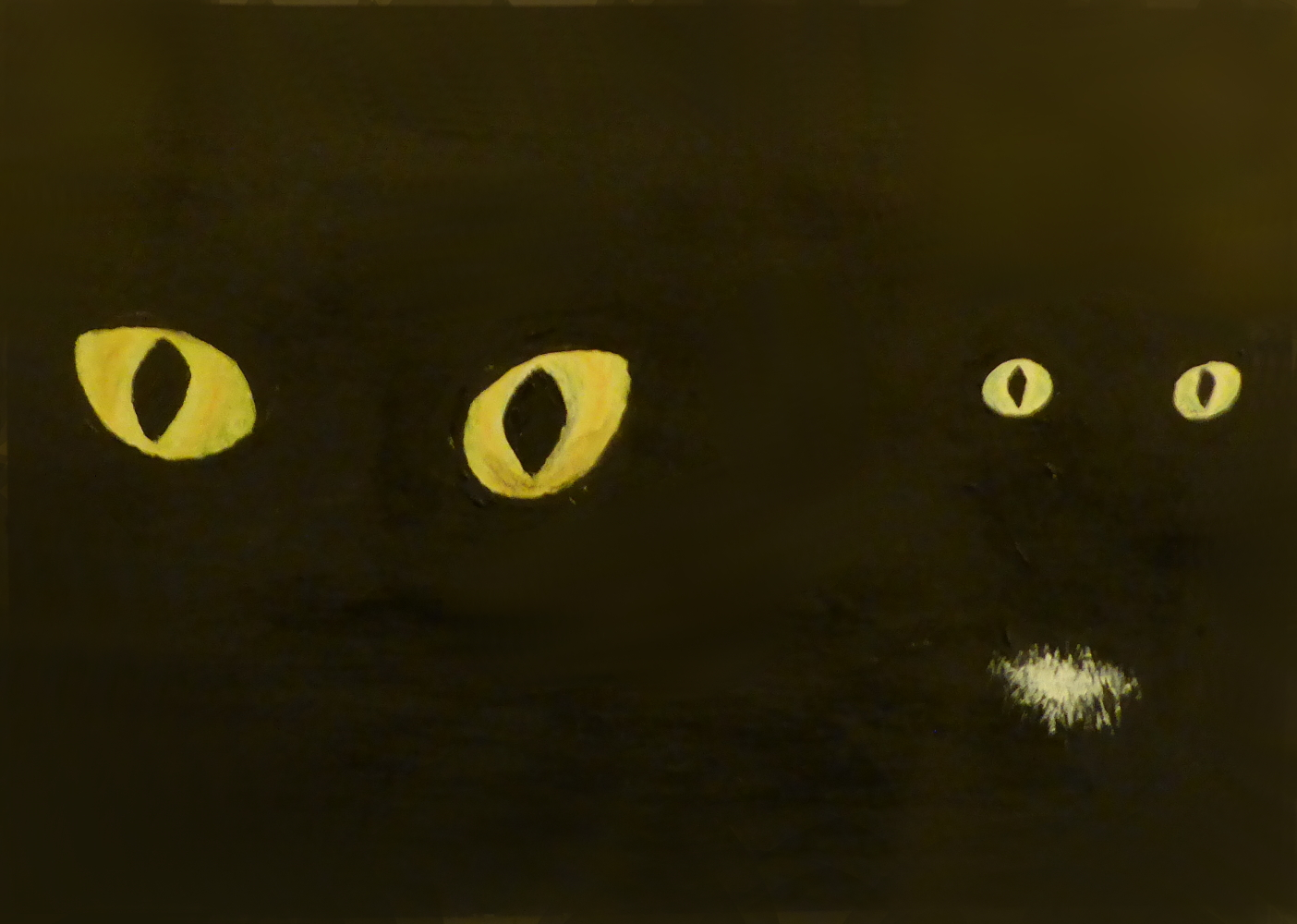"""A + G"", 2019, Acryl auf Pappe, 15 x 11 cm"