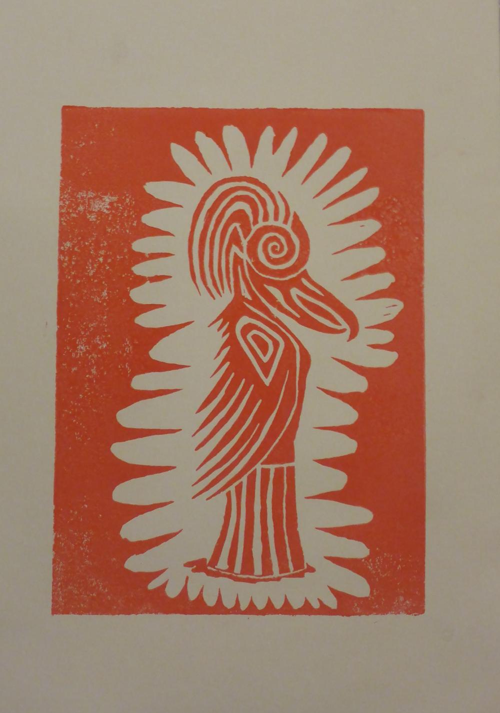 """""""Eris II"""", 2018, linocut on paper, 21 x 30 cm"""