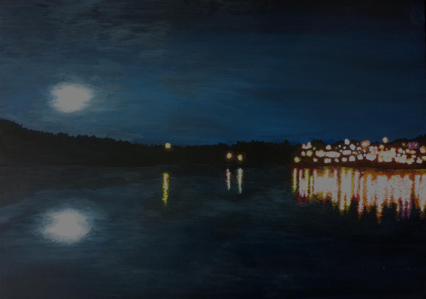 """Nanaimo"", 2019, Acryl auf Pappe, 70 x 50 cm"