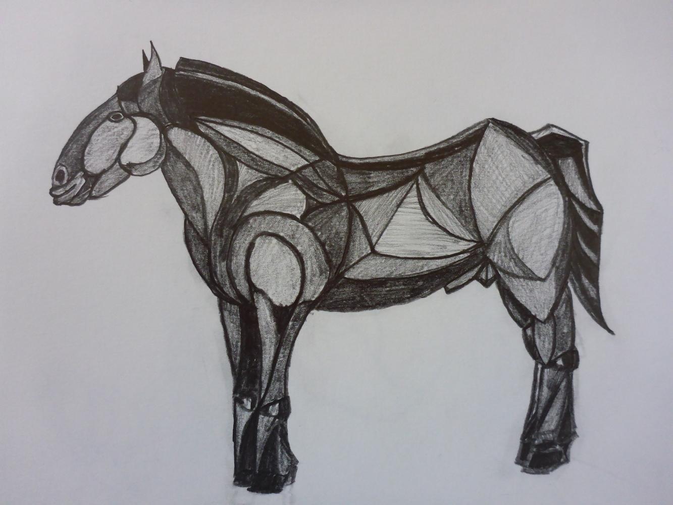 """Stallion IV"", 2018, pencil on paper, 30 x 21 cm"