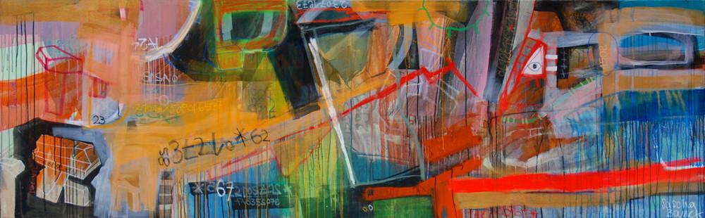 Wachstum, 290x90cm, oil+acryl on canvas, banck 2009 #