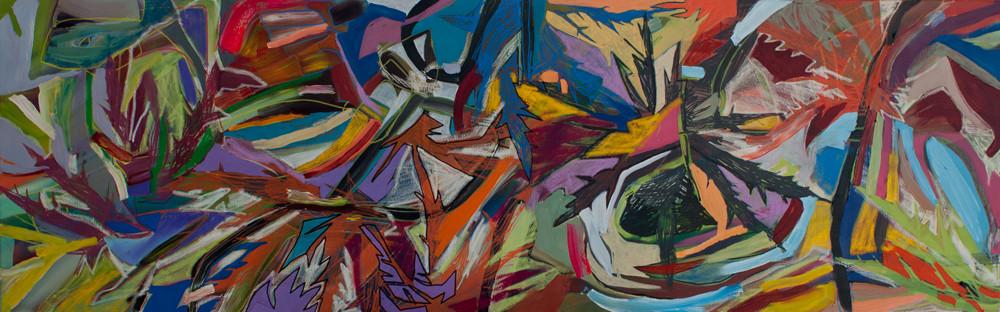 thistle, oil +acryl on canvas, 160x50cm, banck 2012