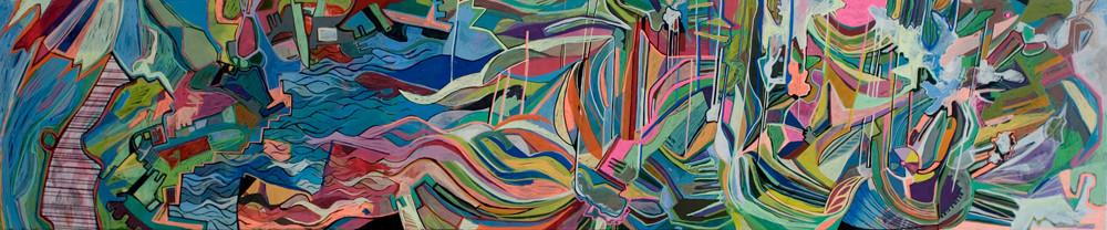 Japan, 240x40cm, acryl on canvas, banck 2011 #
