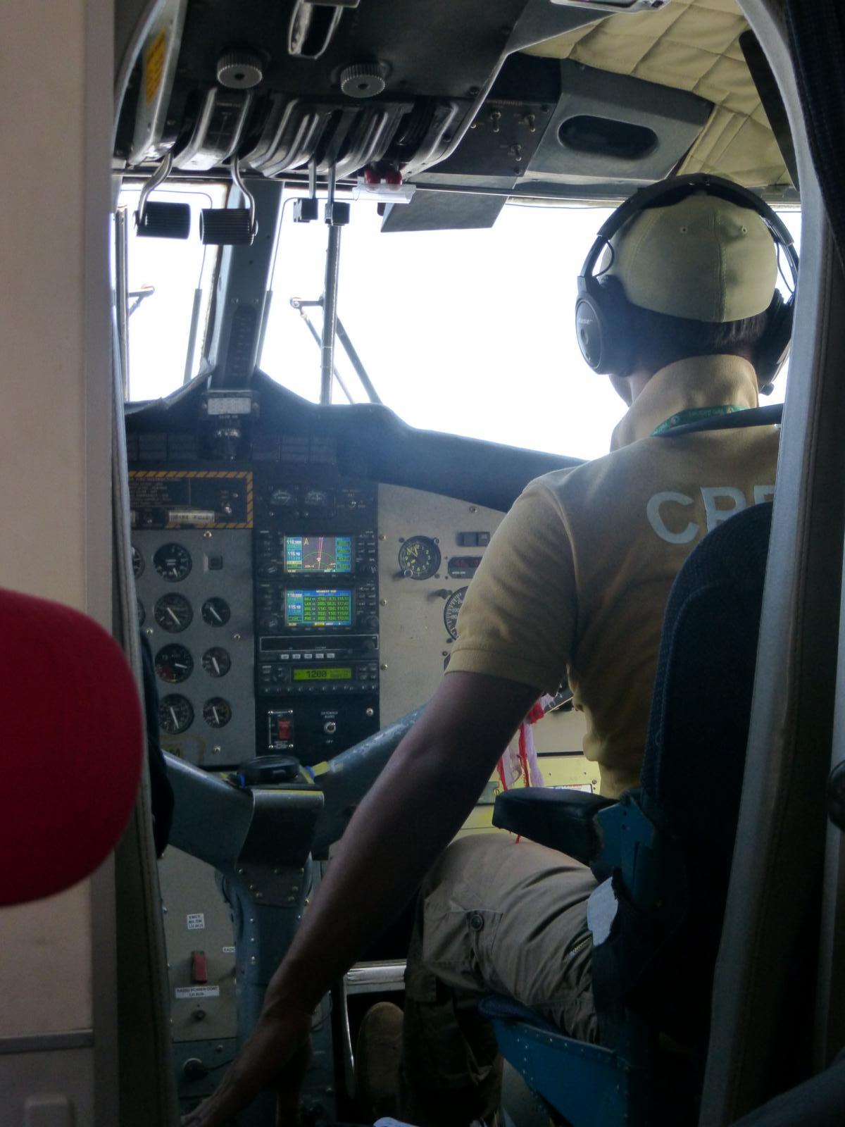 Wann kann man dem Pilot schon mal so über die Schultern schauen?