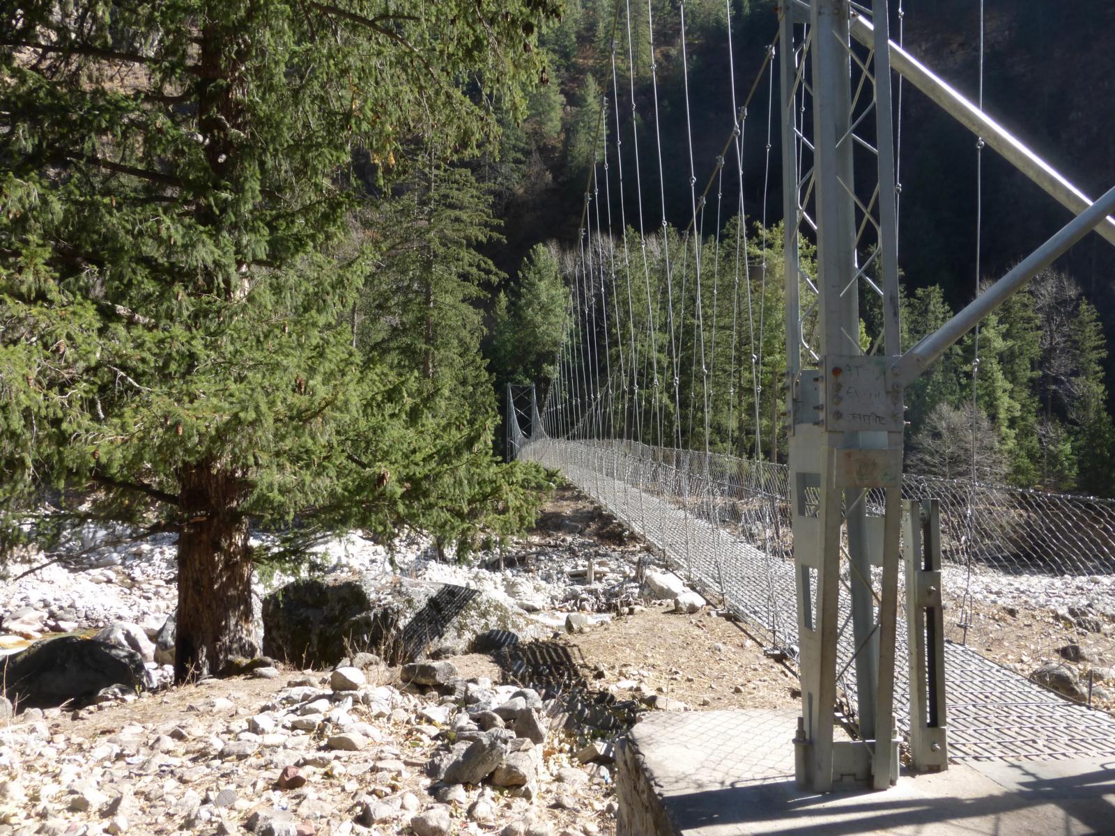 Eine der wichtigsten Brücken in Humla