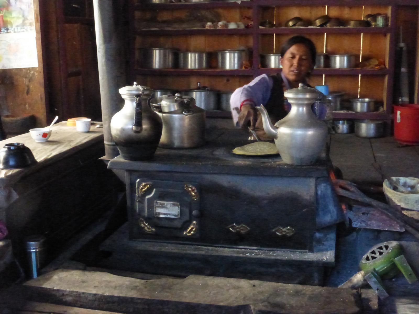Typische tibetische Küche...