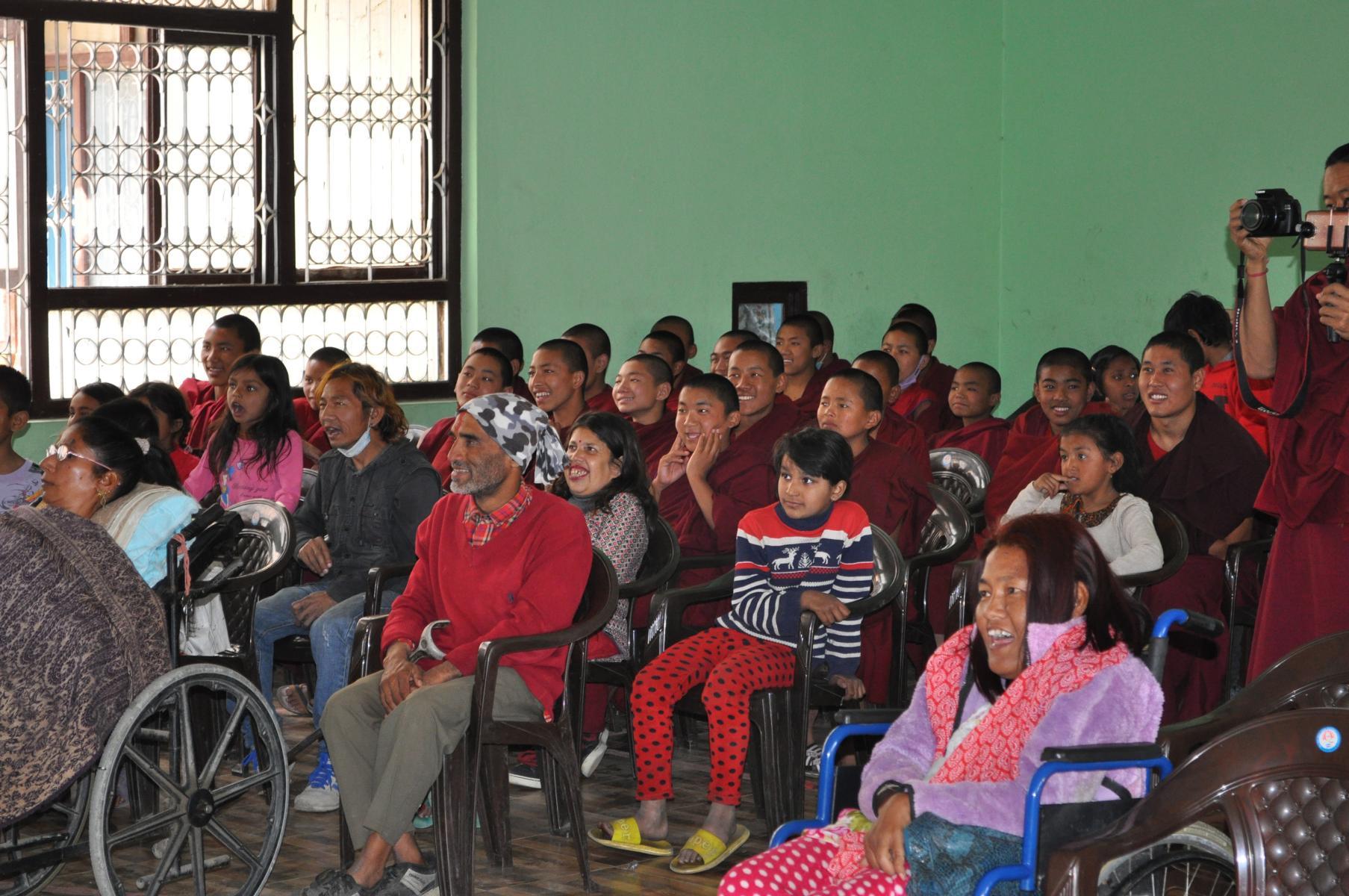 In der Veranstaltungshalle in Jorpati