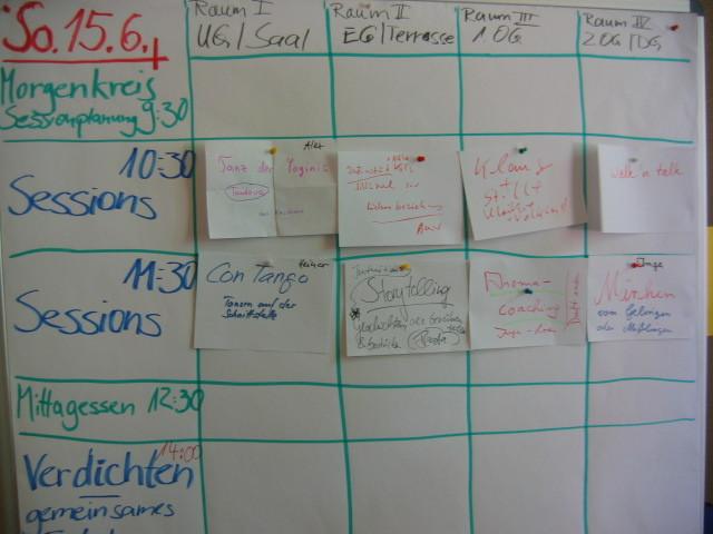 Sessionplanung, Sonntag, 15.6.2014