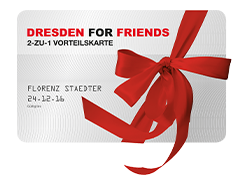 "Wir sind ""Dresden for Friends"" Partner"