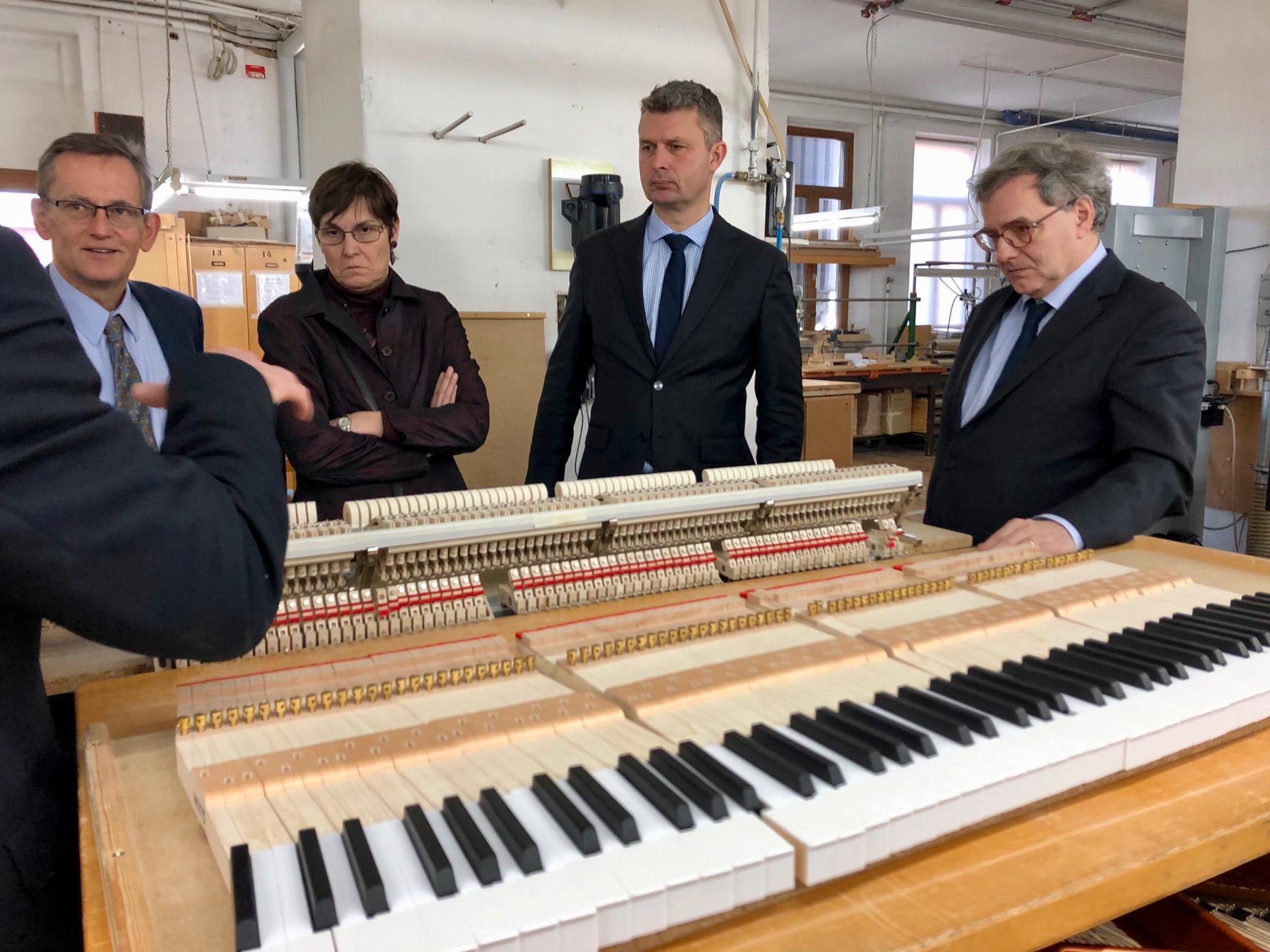 Klavierfabrik Besuch
