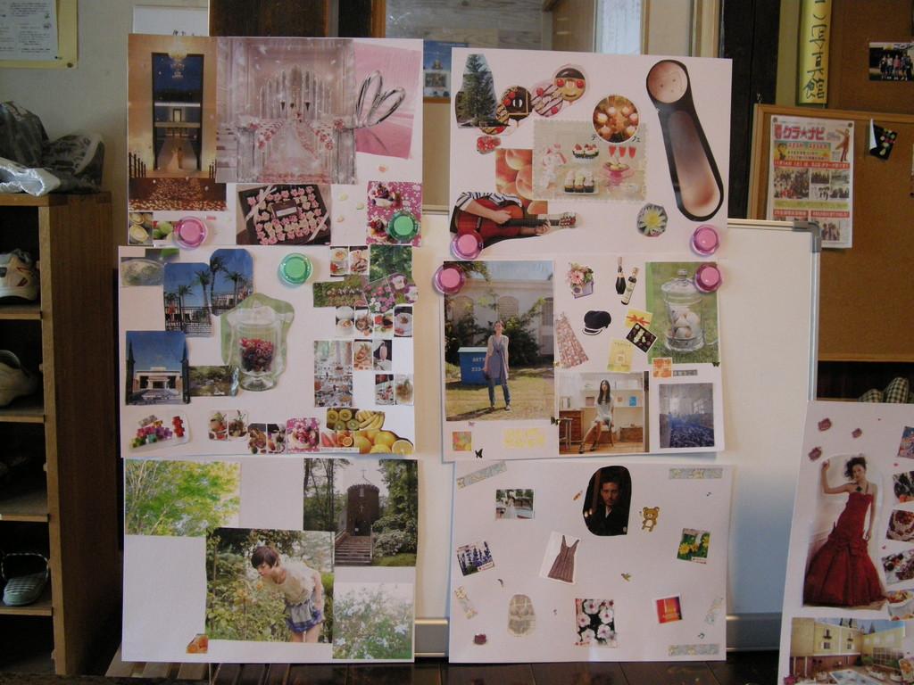 ボランティアで訪問している適応指導教室の生徒さんたちの作品 (2010年)