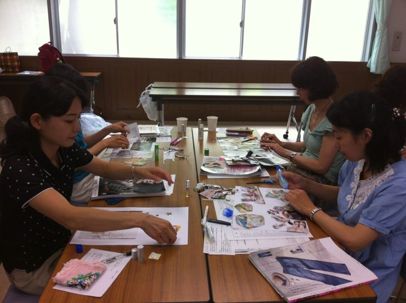 コラージュ制作 (2011年7月5日パルシステム東京主催)