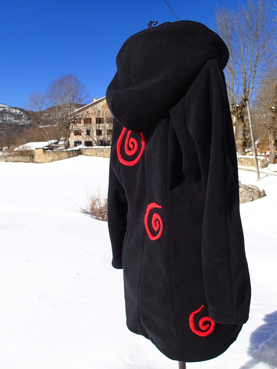 """Manteau non doublé """"serpente dans la neige"""""""