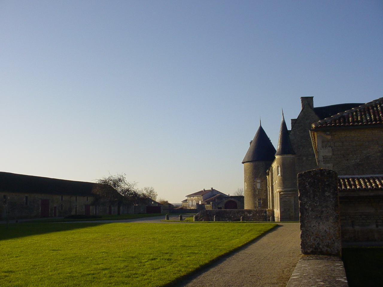 The courtyard of the chateau seen from the garden of the house